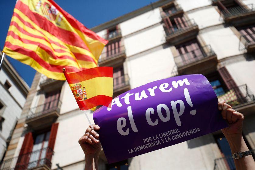 Manifestation pour l'unité de l'Espagne à Barcelone le 19 mars 2017