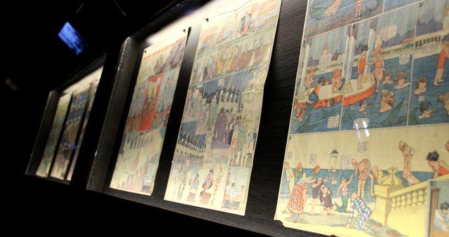 Dans l'exposition Winsor McCay au Musée Thomas Henry à la biennale du 9e art de Cherbourg en Cotentin