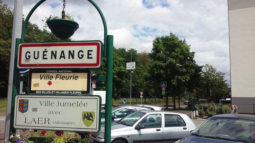 L'entrée de la ville de Guénange