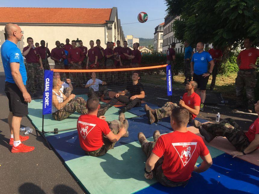 Journée nationale des blessés de l'armée de terre partie de sissi foot au 92ème RI