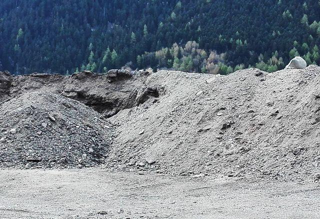 Décharge de roche