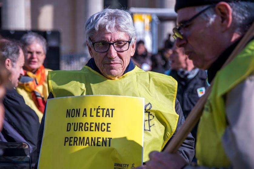 Manifestation contre l'état d'urgence, le 12 mars 2016, à Paris