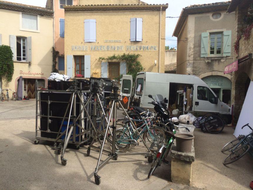 L'équipe du film a investi le petit village de Venterol dans le Sud Drôme pour le tournage.