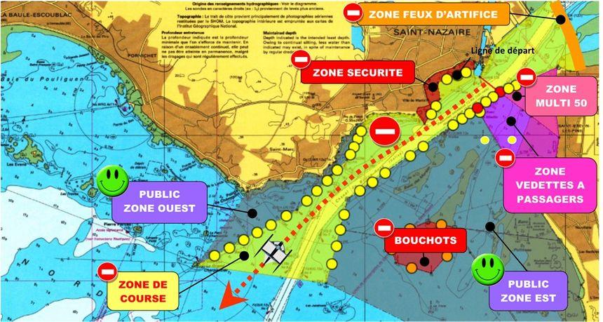 carte départ THE BRIDGE 2017 zone nautique
