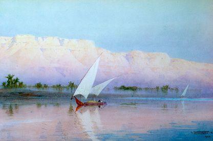 Bateau sur le Nil au début du XXème siècle