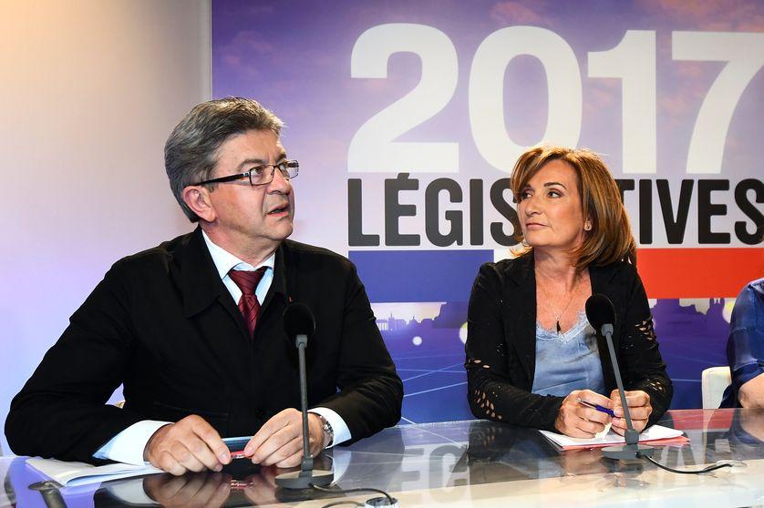 Jean-Luc Mélenchon et Corinne Versini