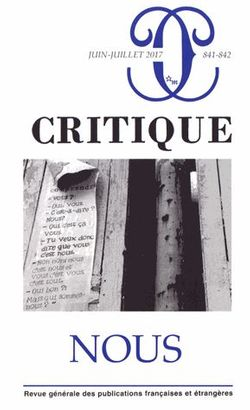 Revue Critique n°841-842, juin-juillet 2017