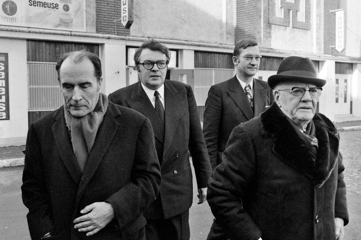 François Mitterrand et Pierre Mauroy à Lille en janvier 1973.