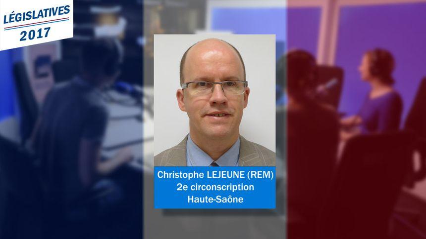 Le nouveau député REM de la 2e circonscription de Haute-Saône : Christophe Lejeune.
