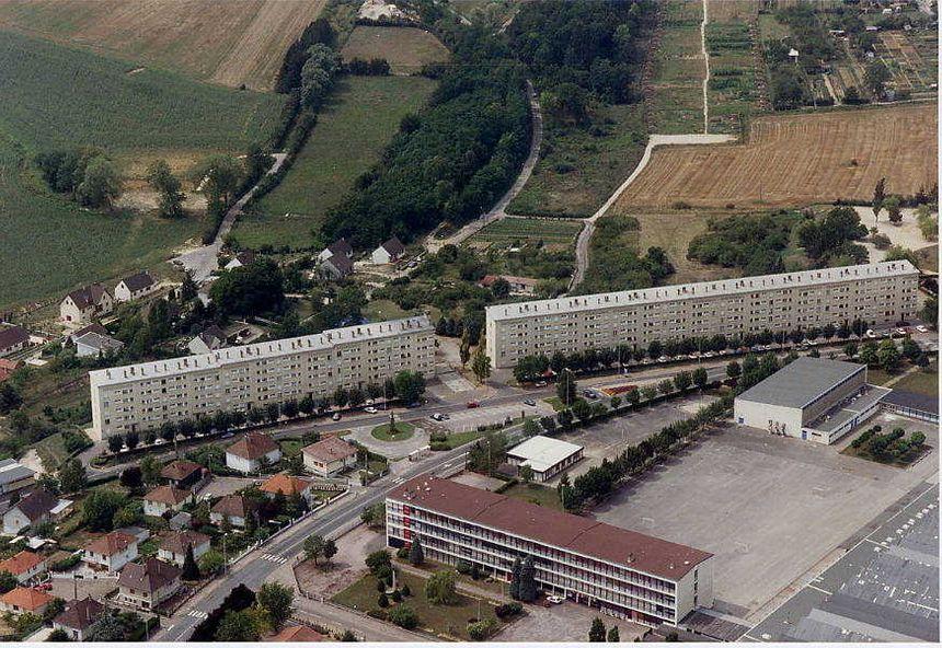 Les tours du quartier des Brichères ont été construites en 1962.