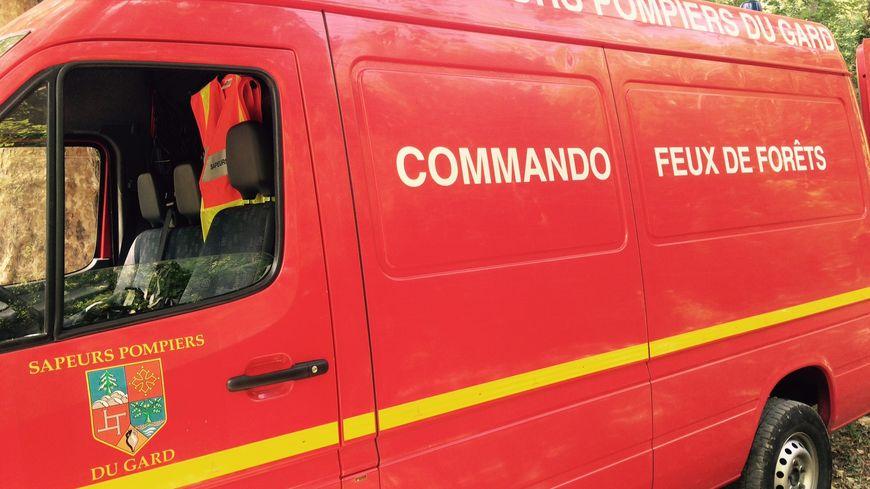 Les pompiers du Gard en exercice près d'Uzès