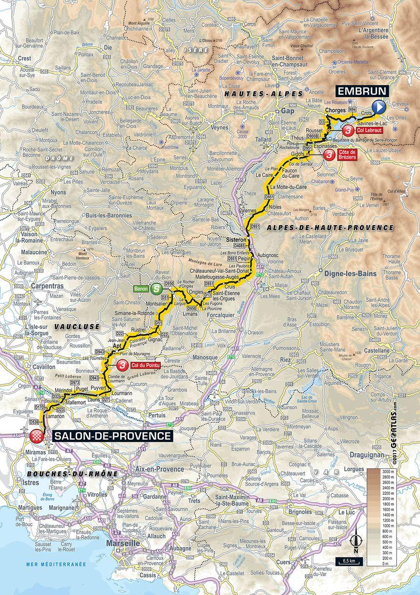 Carte Tour De France 2017 Le Parcours En Détail De La 19e étape