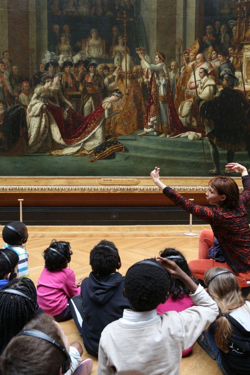 Enfants en visite au Musée du Louvre, 25/09/2012