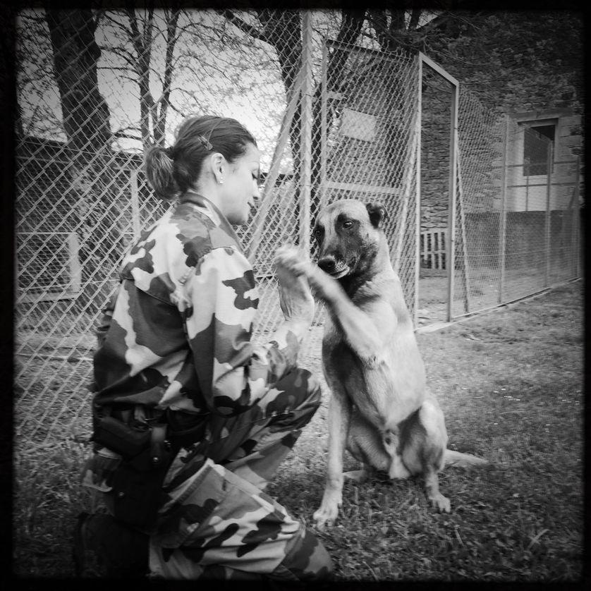 Claire et son chien Haegen