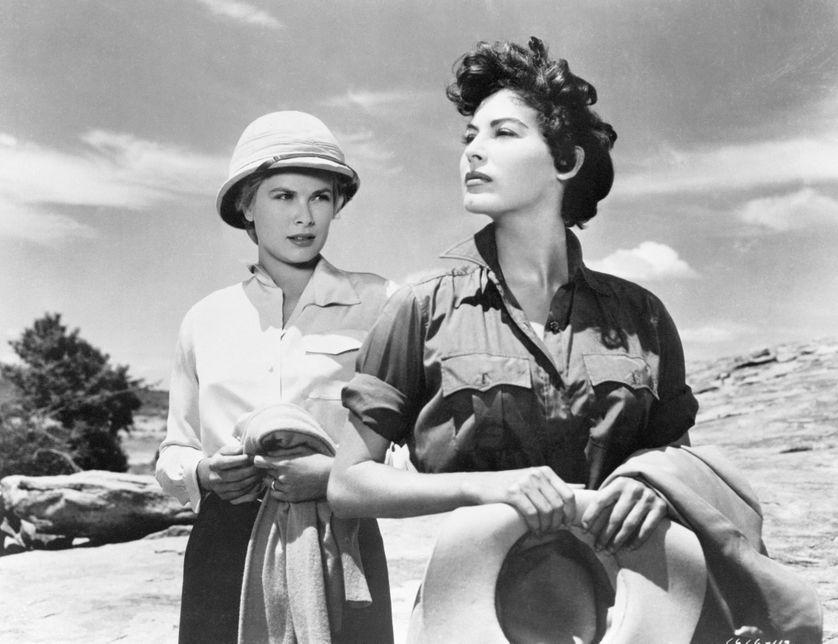 Grace Kelly et Ava Gardner dans une scène du film Mogambo, 1954