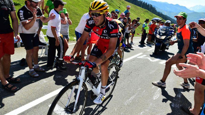 Amaël Moinard sur le Tour 2016 lors de la 8e étape entre Pau et Bagnères-de-Luchon.