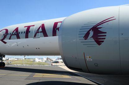 Le Boeing 777 -300 de Qatar Airways sur le tarmac du Bourget - 18 juin 2017