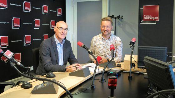Jean-Marc Andrieu et Benjamin François au Studio 141 de la Maison de la radio