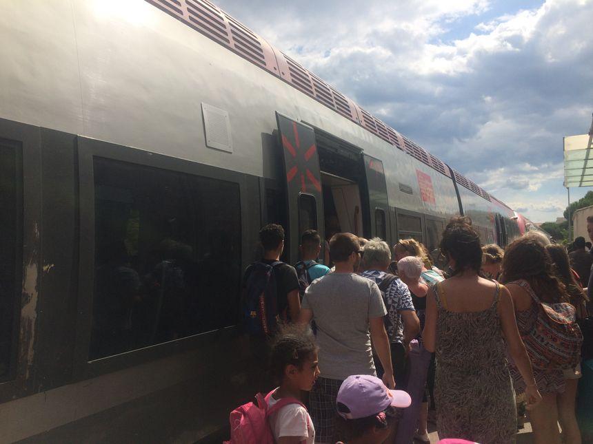 Tous les jours des milliers de passagers empruntent le TER à 1 euros pour venir au Grau-du-Roi