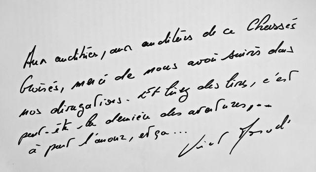 La dédicace de Vincent Monadé