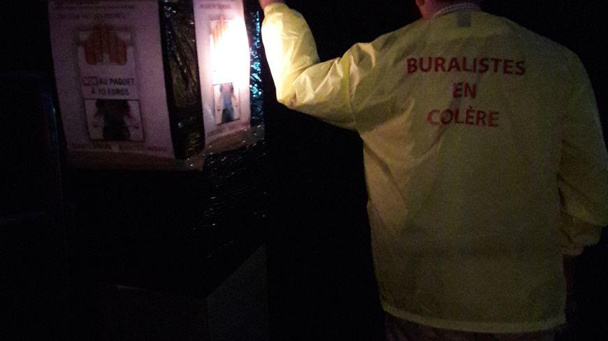 Les buralistes ont bâché des radars fixes dans le Bas-Rhin dans la nuit de jeudi à vendredi.