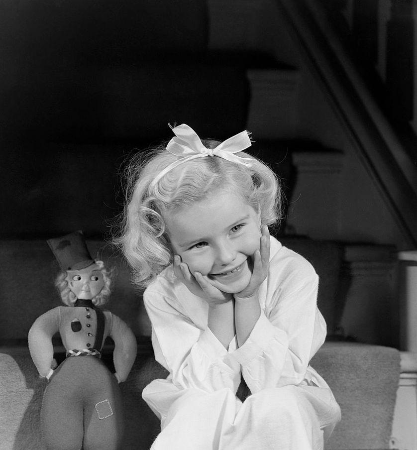 Portrait d'une petite fille en 1948