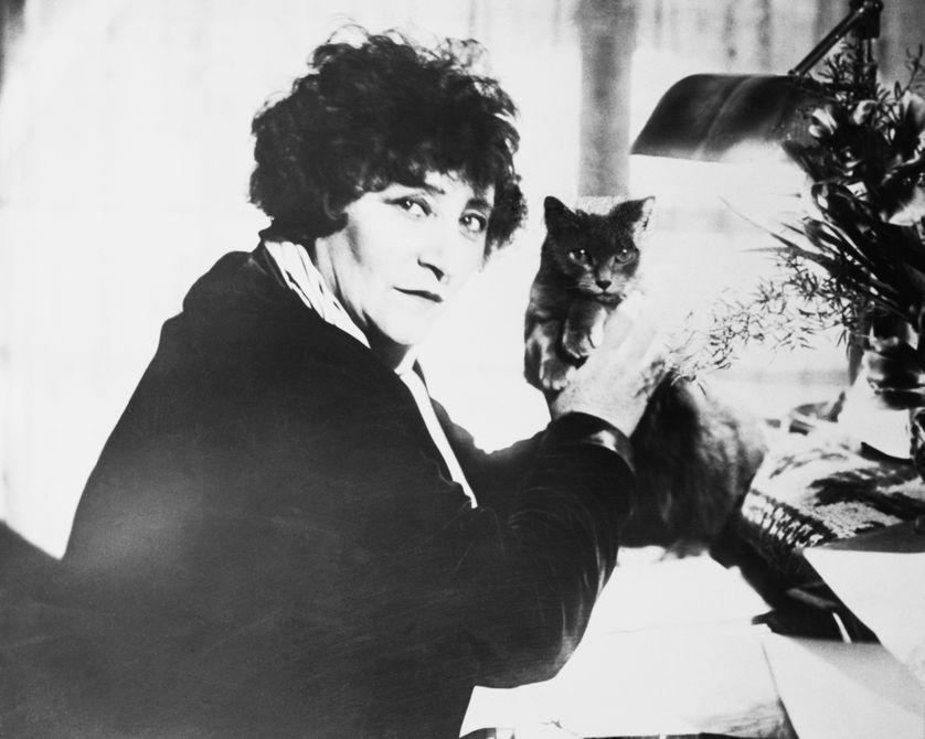 Colette et son chat