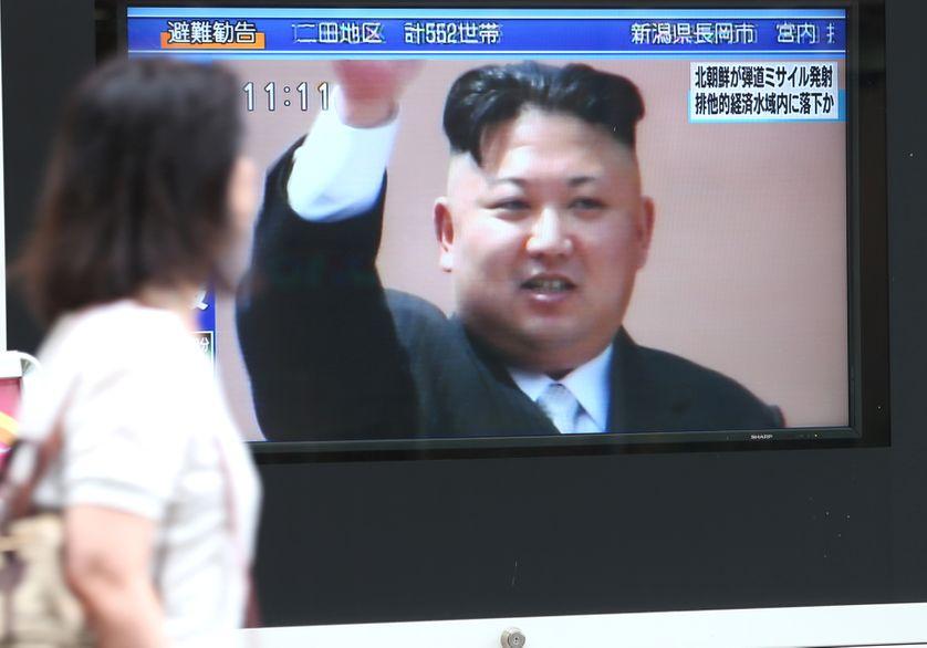Le président nord-coréen Kim Jung-un à la télévision