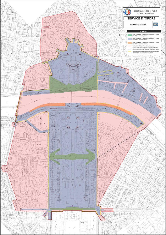 Restrictions de circulation et de stationnement autour du Champ de Mars pour le concert du 14 juillet