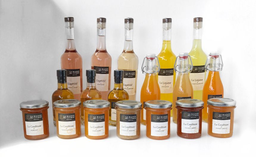 confitures, liqueurs, sirops, le citron donne naissance à une jolie gamme de produits