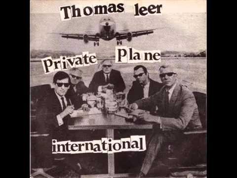"""Pochette du single """"Private Plane"""" de Thomas Leer"""