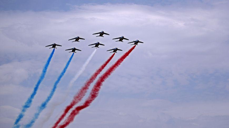 La Patrouille de France en metting à Palavas-les-Flots