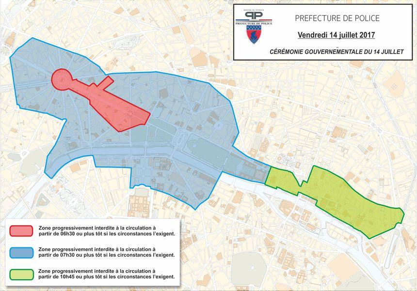 Restrictions de circulation pour le défilé militaire sur les Champs-Elysées le 14 juillet