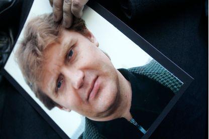 Alex Goldfarb aidé Alexandre Litvinenko à fuir la Russie avec sa famille en 2000 pendant une conférence de presse pour un hommage en 2007.