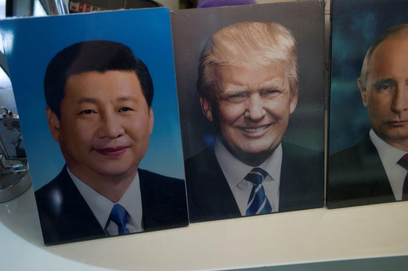 Photos des présidents chinois, américain et russe