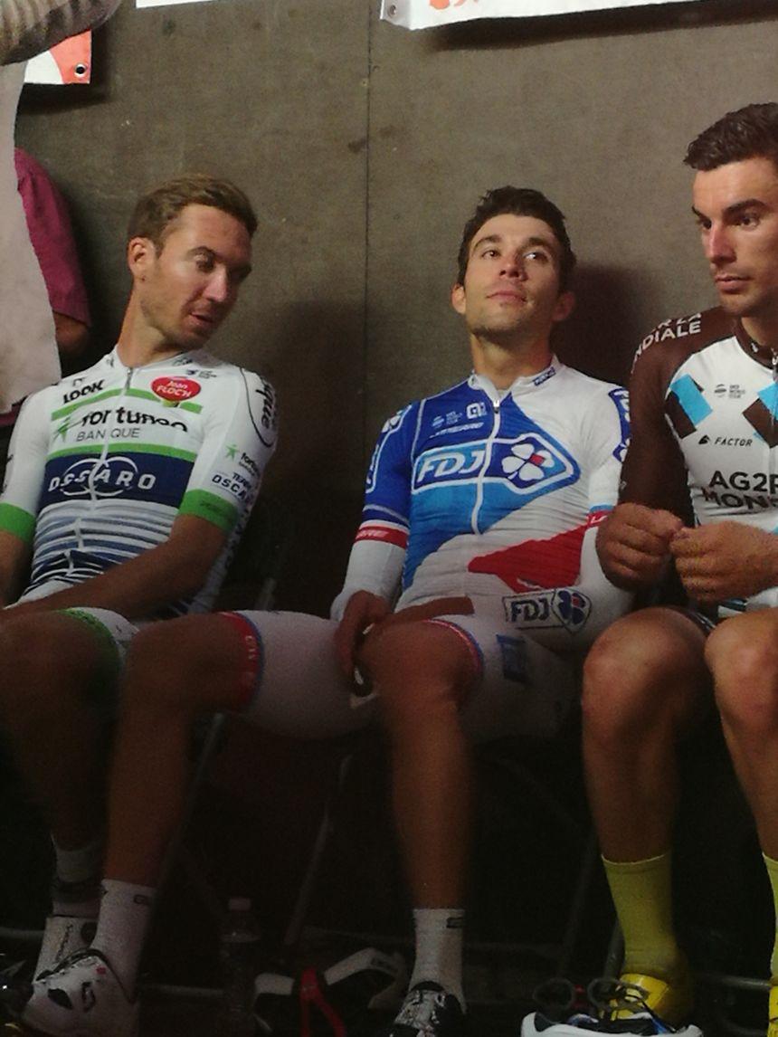 Thibaut Pinot (au milieu) sort d'une saison compliquée: 4e du dernier Giro, il a abandonné lors de la 17e étape du Tour de France 2017
