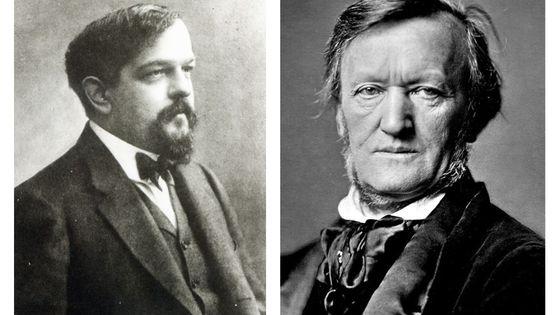 Claude Debussy, par Nadar vers 1908 / Richard Wagner en 1871
