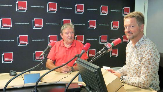 Jean-Pierre Canihac et Benjamin François au studio 141 de France Musique.