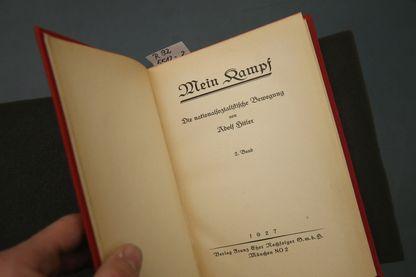 Une édition de 1927 du «Mein Kampf» d'Adolf Hitler