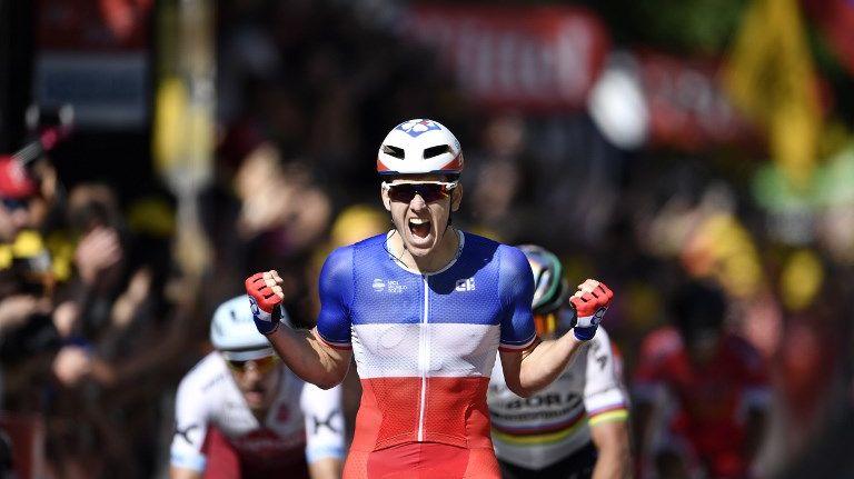Arnaud Démare (FDJ) a enlevé au sprint la 4e étape à Vittel, son premier succès sur le Tour de France