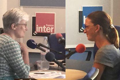 Marion Duvigneau, directrice du patrimoine historique de Nice, et Emilie Petitjean, présidente de l'association Promenade des Anges
