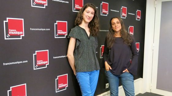 France Musique, studio 141, samedi 22 juillet 2017... Nathalia Milstein, pianiste & la productrice Gabrielle Oliveira-Guyon ( de g. à d.)