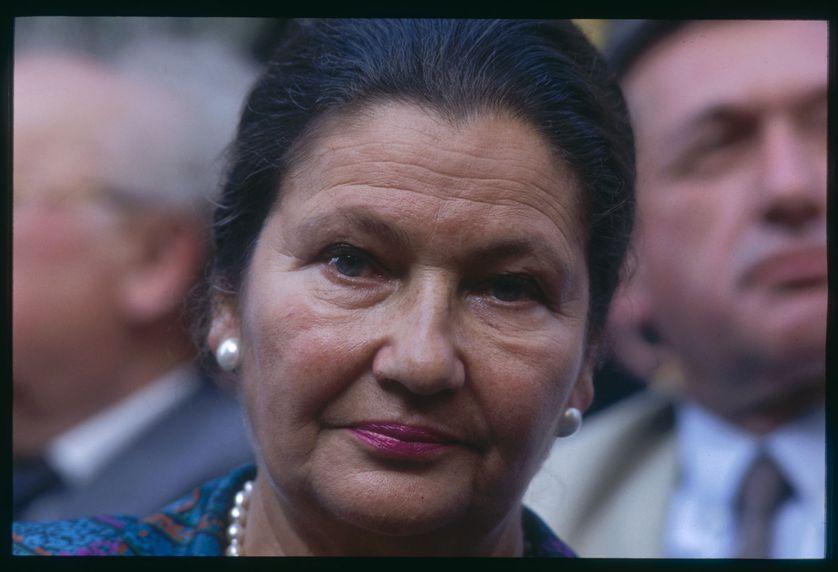 Simone Veil en 1992 lors de la commémoration de la rafle du Vel d'Hiv