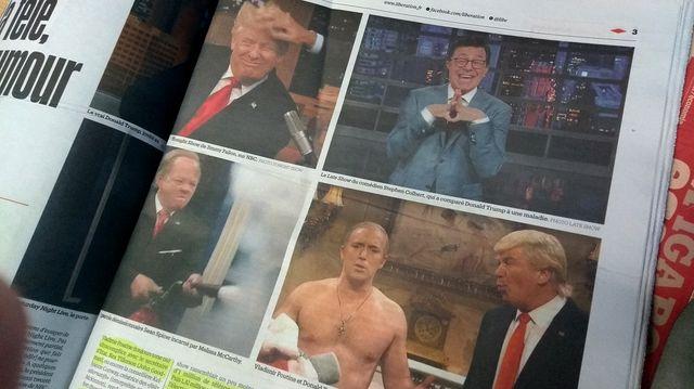 Extrait de l'article de Libération sur les humoristes et Trump