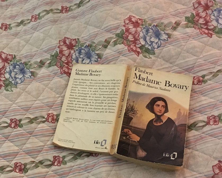 "Couverte de ""Madame de Bovary de Gustave Flaubert"""