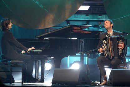 Michael Wollny et Vincent Peirani au Echo Jazz Festival d'Hambourg en mai 2015