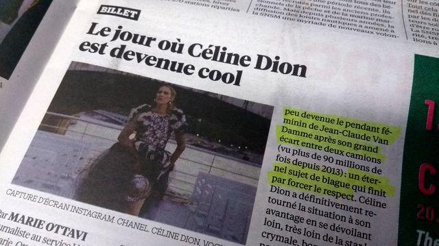 Extrait du billet de Libération sur Céline Dion
