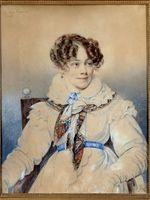 Dessin de Orest Adamovich Kiprensky en1823 de la comtesse de Ségur