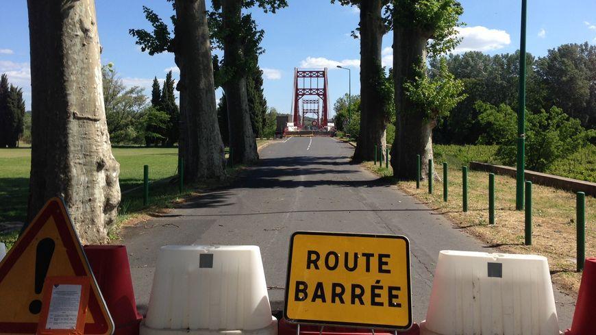 Le pont de Canet fermé depuis le 13 avril