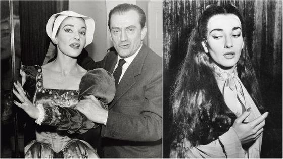 Mise en scène par Luchino Visconti, Maria Callas incarne le rôle-titre d'Anna Bolena, de Donizetti, à la Scala de Milan (à gauche). La diva est au zénith de sa carrière...